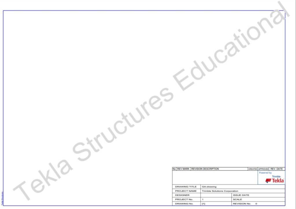 Tekla education stamp
