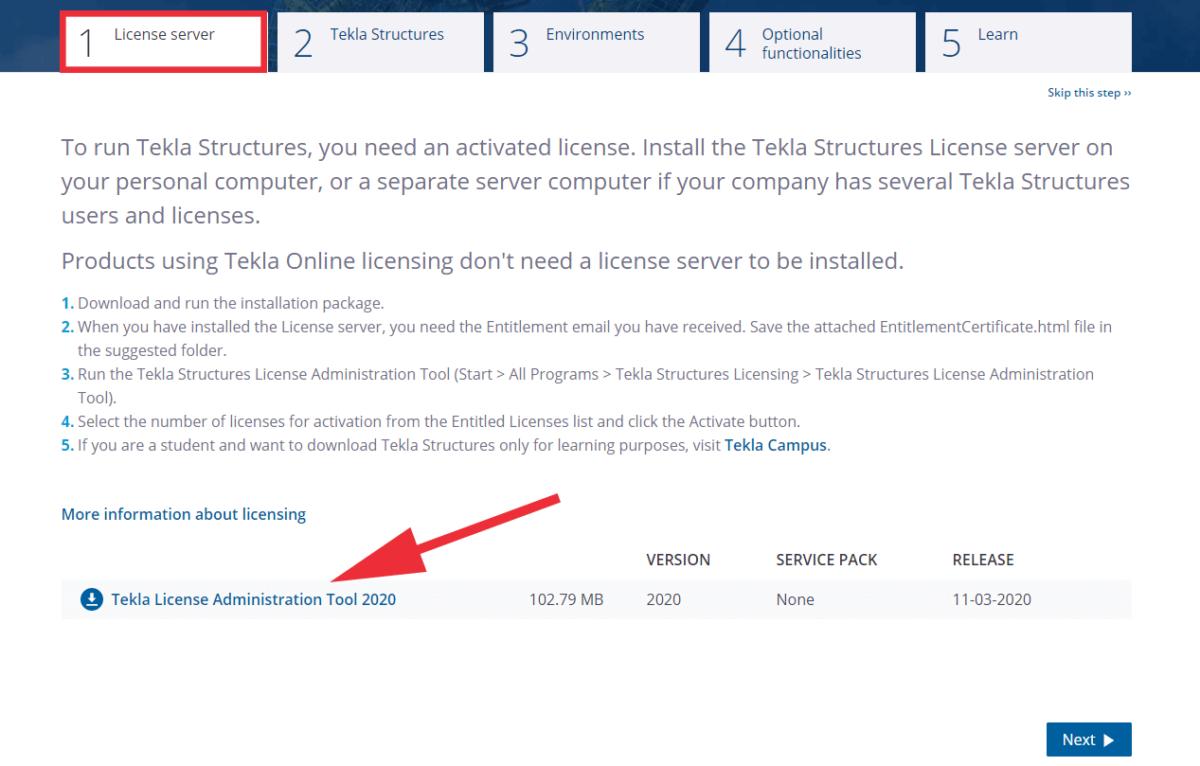 Download License Tool