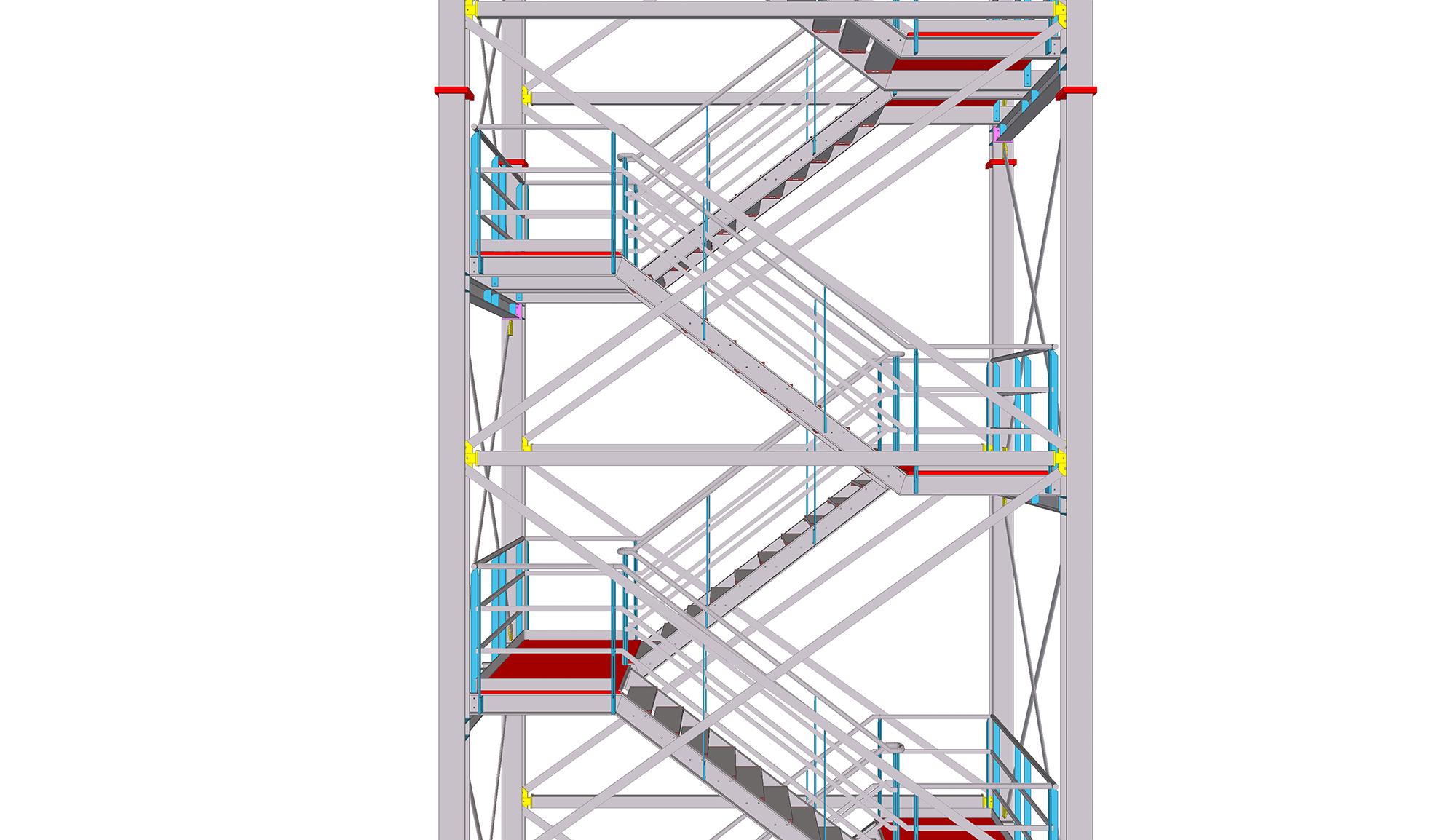 Tekla training steel model